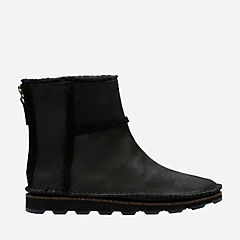 Damara Lia Black Leather womens-ankle-boots