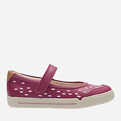Lil Folk Lou Toddler Pink Leather girls-shoes