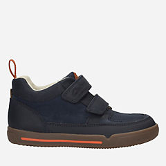 Lil Folk Hop Toddler Navy Leather boys-boots