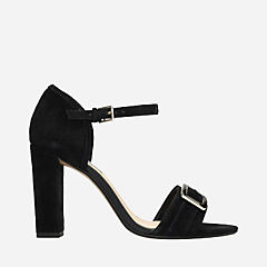 Curtain Shine Black Suede womens-heels