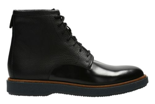 modur hi black leather s casual boots clarks