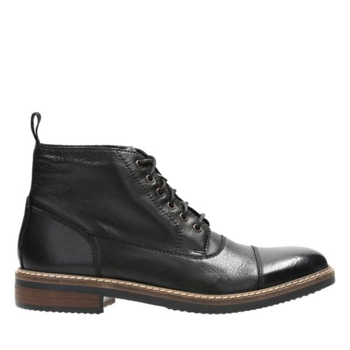 Blackford Cap Black Leather mens-ortholite