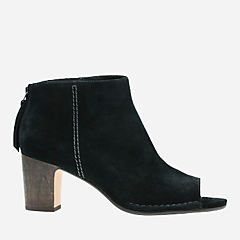 Spiced Melody Black Suede womens-ankle-boots