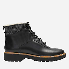 Witcombe Rock Black Leather womens-ankle-boots