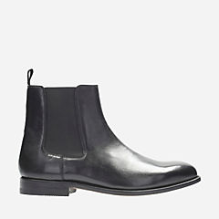 Ellis Franklin Black Leather mens-dress-boots
