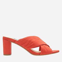 Amali Primrose Orange Nubuck womens-heels