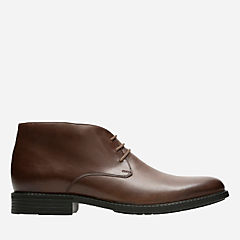 Delk Mid Brown Waterproof Leather mens-ortholite