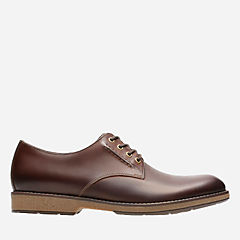 Hinman Plain Mahogany Leather mens-oxfords-lace-ups