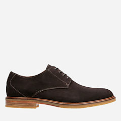 Clarkdale Moon Dark Brown Suede mens-oxfords-lace-ups