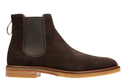 Clarkdale Gobi Dark Brown Suede mens-casual-boots