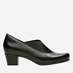 Rosalyn Olivia Black Leather/Textile  Combi womens-narrow-width