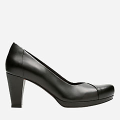 Chorus Carol Black Leather womens-heels
