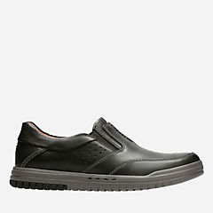 Unrhombus Twin Black Leather mens-loafer-slip-on