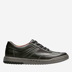 Unrhombus Fly Black Leather sale-mens-casual-shoes