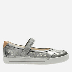 Lil Folk Lou Toddler Gun Metal Leather girls-shoes