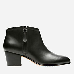 Maypearl Alice Black Leather womens-ankle-boots