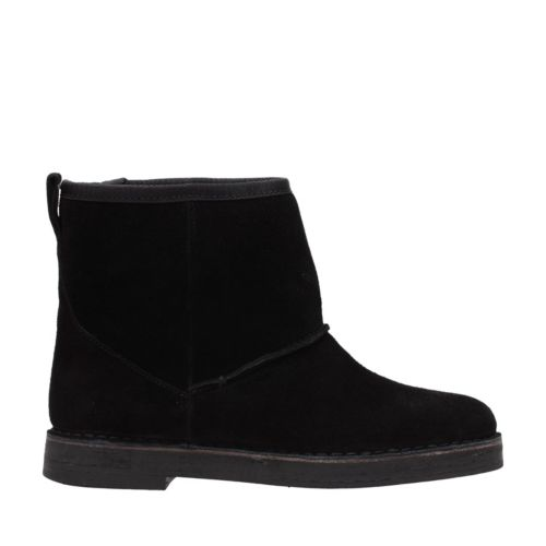 Drafty Day Black Suede Womens Boots