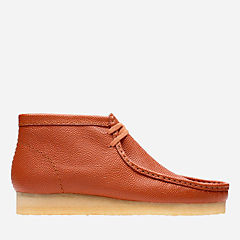 Wallabee Boot Orange Leather originals-new-arrivals