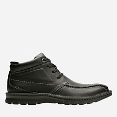 Vanek Rise Black Oily Leather mens-wide-width