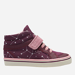 Juggle Tam First Dark Plum Canvas girls-sneakers
