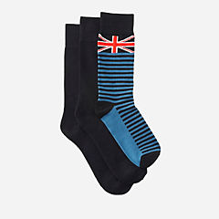 Men's 3-Pack Brit Socks  Black/Comb mens-accessories
