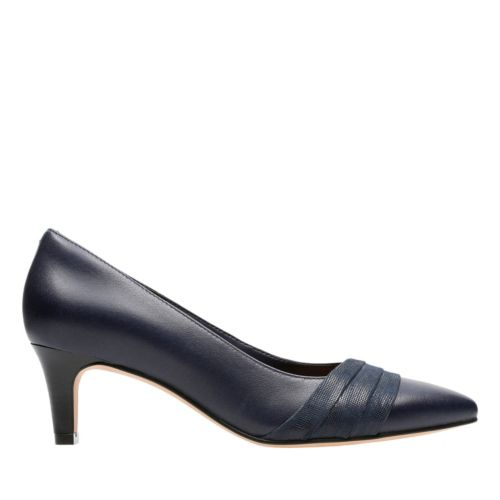 Crewso Madie Navy Leather/Textile Combi sale-womens-heels