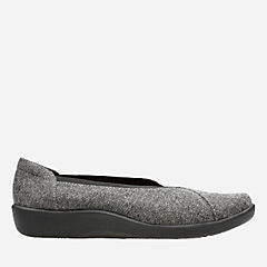 Sillian Holly Grey Tweed Textile womens-narrow-width
