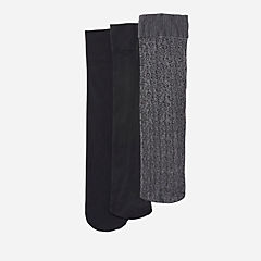 Women's 3-Pack Trouser Socks Black/Comb womens-accessories-new