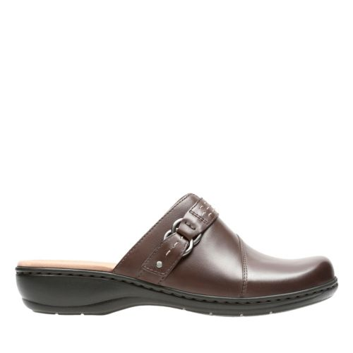 Leisa Sa Dark Brown Leather Womens Wide Width