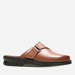 Patty Nell Dark Tan Leather womens-ortholite