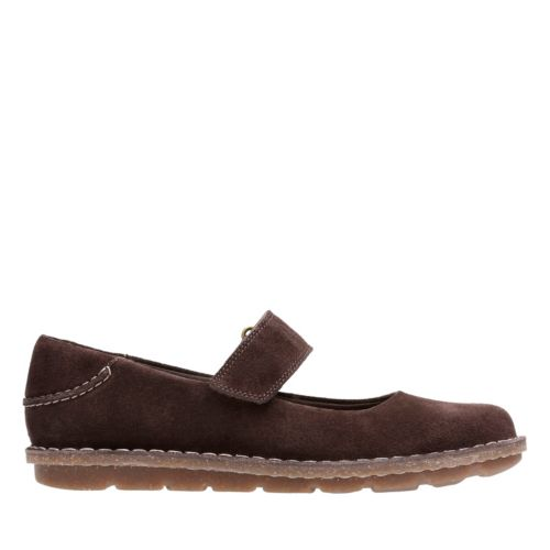 Tamitha Aster Dark Brown Suede Womens Collection