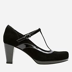 Chorus Pitch Black Leather Combi womens-heels
