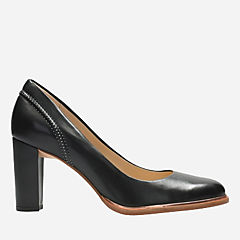 Ellis Edith Black Leather womens-heels