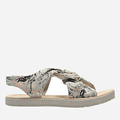 Romantic Lilac Light Grey Print womens-flat-sandals