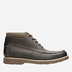Vossen Mid Dark Brown Leather mens-boots