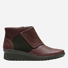Caddell Rush Burgundy Synthetic Nubuck womens-collection