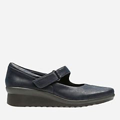 Caddell Yale Navy Synthetic Nubuck womens-collection