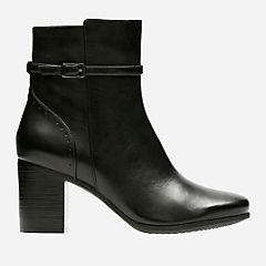 Kensett Diana Black Leather womens-midcalf-boots