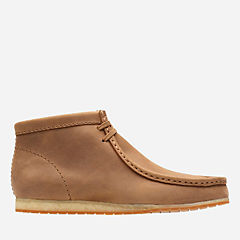 Wallabee Step Boot Tan Leather mens-wallabees