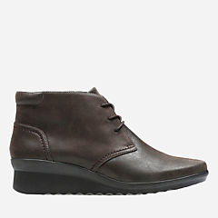 Caddell Hop Dark Brown Synthetic Nubuck womens-collection