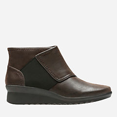 Caddell Rush Dark Brown Synthetic Nubuck womens-collection