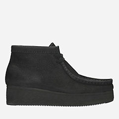 Wallabee Wedge Black Nubuck originals-womens-boots