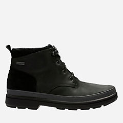 Rushway Mid GTX Black Leather mens-waterproof-boots