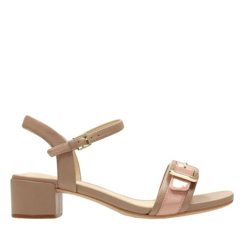 Orabella Shine Nude Combi Leather womens-sandals-heels