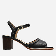 Ellis Clara Black Leather womens-heels