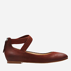 Grace Anna Rust Nubuck womens-dress-shoes