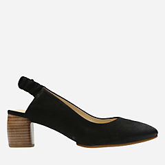 Grace Allegra Black Nubuck womens-kitten-heels