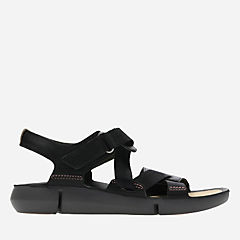 Tri Clover Black Combi womens-flat-sandals