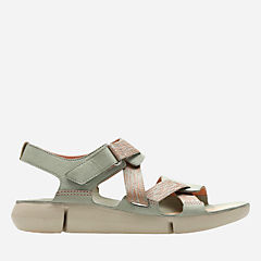 Tri Clover Light Green Combi womens-flat-sandals
