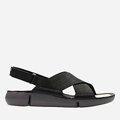 Tri Chloe Black Nubuck womens-flat-sandals